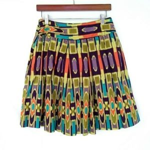 W. Work to weekend Geometric Pleated Skirt Size 8